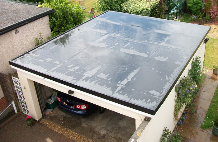 new flat garage rubber roof in dalgety bay